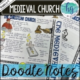Middle Ages Doodle Notes and Digital Guided Notes Set 3 fo