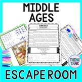 Middle Ages ESCAPE ROOM: Medieval Times - NO PREP!
