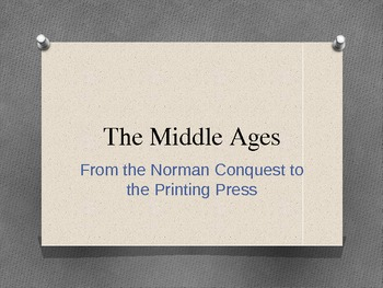 Middle Ages English Lit Background PowerPoint