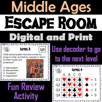 Middle Ages: Escape Room - Social Studies (Medieval Europe: Feudalism)