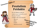 Middle Ages: Feudalism Foldable for Interactive Notebook