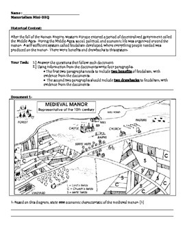 Middle Ages - Feudalism Guided Notes and Manorialism Mini DBQ