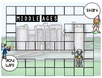 Middle Ages Game (File Folder Board Game)