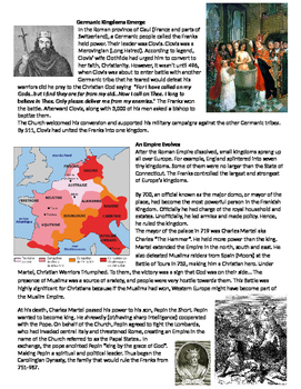 Middle Ages: Geography: Why Western Europe & Rise of the Franks Lesson Plan