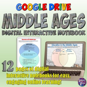 Middle Ages Google Drive Digital Interactive Notebook