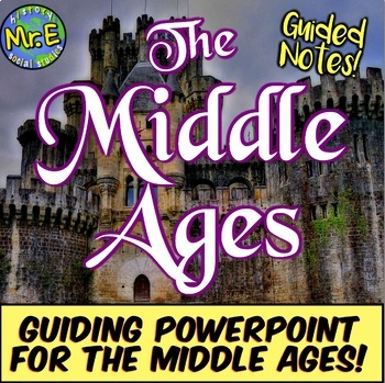 Middle Ages Guided Notes Unit PowerPoint: Guided PPT for Medieval Times Unit!