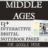 Middle Ages Interactive Notebook Digital Graphic Organizer
