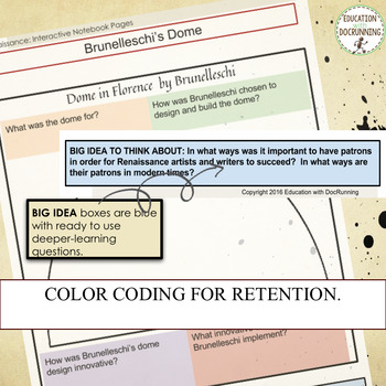 Renaissance Digital Interactive Notebook for Google Drive