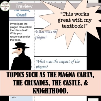 Middle Ages Interactive Notebook Graphic Organizers for the Middle Ages