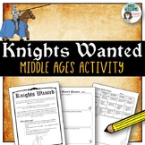 "Middle Ages ""Knights Wanted"" Poster"
