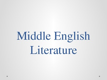 Middle Ages Literature Background PowerPoint