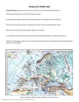 Middle Ages Mapping Activity