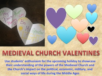 Middle Ages: Medieval Church Valentine Messages with Hando