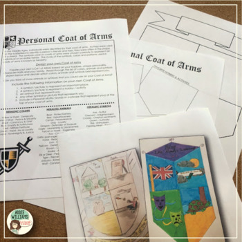 middle ages coat of arms activity by addie williams tpt. Black Bedroom Furniture Sets. Home Design Ideas