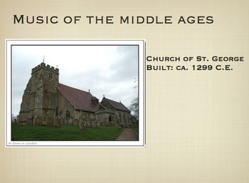Middle Ages (Medieval Era) Music Part 1 Presentation - PDF Version