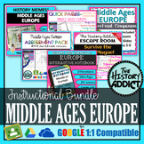 Middle Ages (Medieval) Europe Interactive Notebook Instructional Bundle