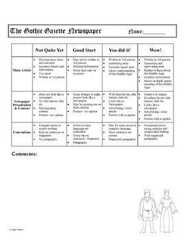 Middle Ages / Medieval Newspaper