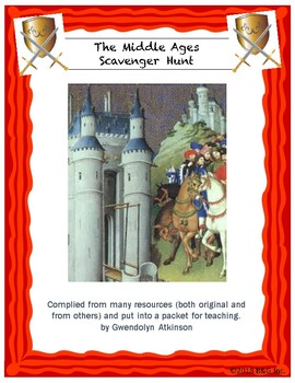 Middle Ages / Medieval Period Scavenger Hunt