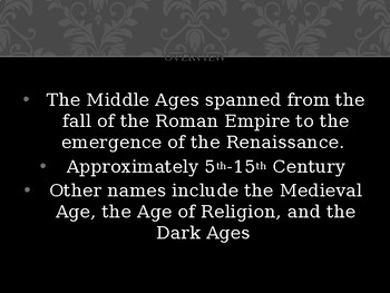 AP EURO/ AICE EURO Middle Ages Overview Powerpoint
