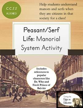 Middle Ages Peasant Life Game- Manors and Serfs