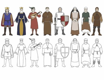 Middle Ages People and Artifacts Clip Art