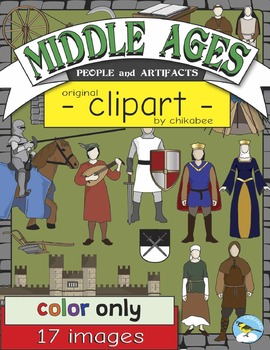 Middle Ages People and Artifacts Clip Art (COLOR ONLY)