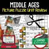 Middle Ages Picture Puzzle Unit Review, Study Guide, Test Prep