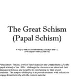 Middle Ages Play Script: The Great Schism (Papal Schism)