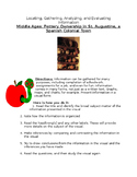 Middle Ages: Pottery Ownership -St. Augustine, a Spanish Colonial Town Worksheet