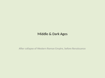 Middle Ages Power Point