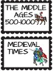 Middle Ages Power Point, Outline, Word Wall, Sort Activity