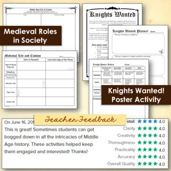 Middle Ages Bundle - Projects and Activities