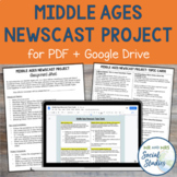 Middle Ages Project | Newscast Project for PDF and Google Drive
