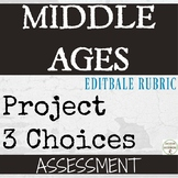 Middle Ages Project for Medieval Europe Assessment Distance Learning