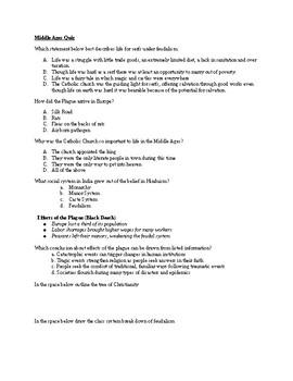 Middle Ages Quiz