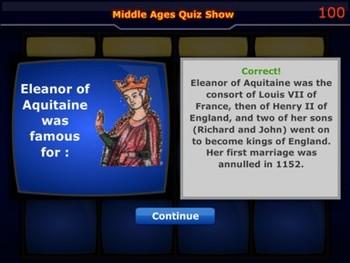 Middle Ages Quiz Show - Bill Burton