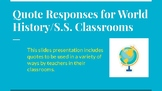 Middle Ages Quote Responses/Warm Ups for Social Studies Classrooms