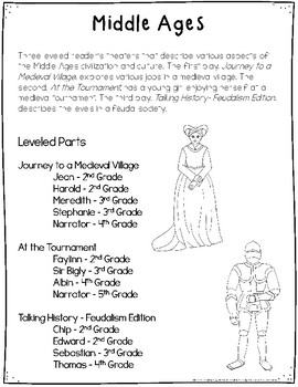 Middle Ages Reader's Theater {Leveled Parts}