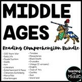 Middle Ages Reading Comprehension Worksheet Bundle Medieva