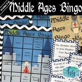 Middle Ages Review Bingo (works with Distance Learning)