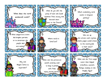Middle Ages Review Board Game | CKLA Supplement Unit 2, Part 1, Grade 4