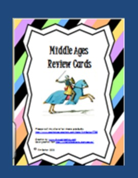 Middle Ages Review Cards