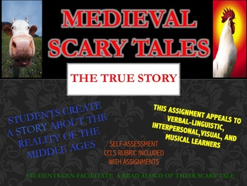 Middle Ages: Medieval Scary Tale Assignment with CCLS Rubric