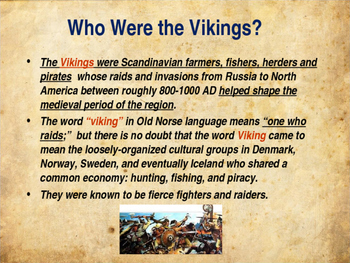 The Middle Ages - The Vikings