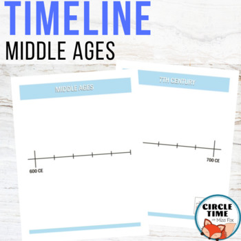 Middle Ages Timeline, Book of Centuries, 18 Pages, Color