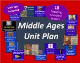 Middle Ages Unit Bundle - 15 Lessons Plus Unit Test! 192 P