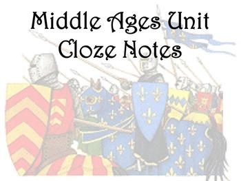 Middle Ages Unit Cloze Notes