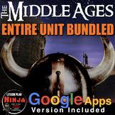 Middle Ages Unit - PPTs, Worksheets, Lesson Plans+Test