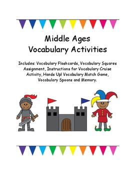 Middle Ages Vocabulary Activites