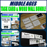 Middle Ages Vocabulary Task Card & Word Wall Tile Bundle